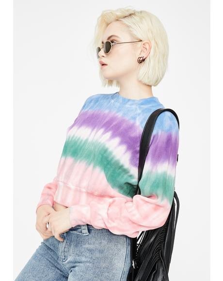 Connie Tie Dye Crewneck Sweater