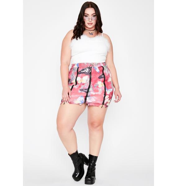 Nuclear Electric Forest Zipper Skirt