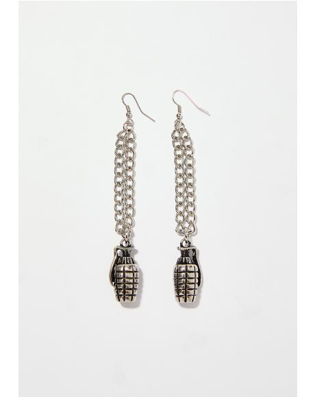 Catch A Grenade 4 U Earrings