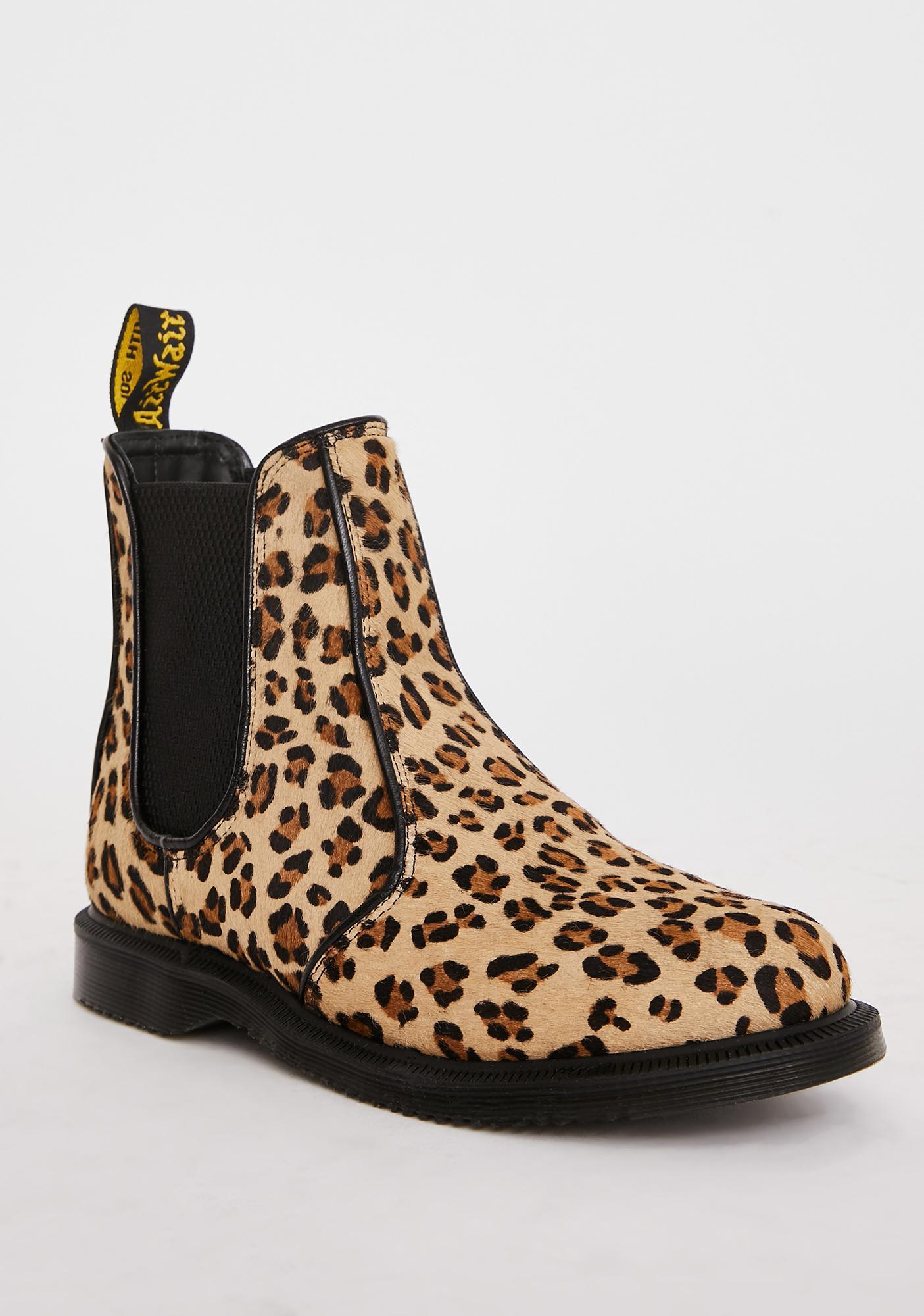 Dr. Martens Flora Leopard Chelsea Boots