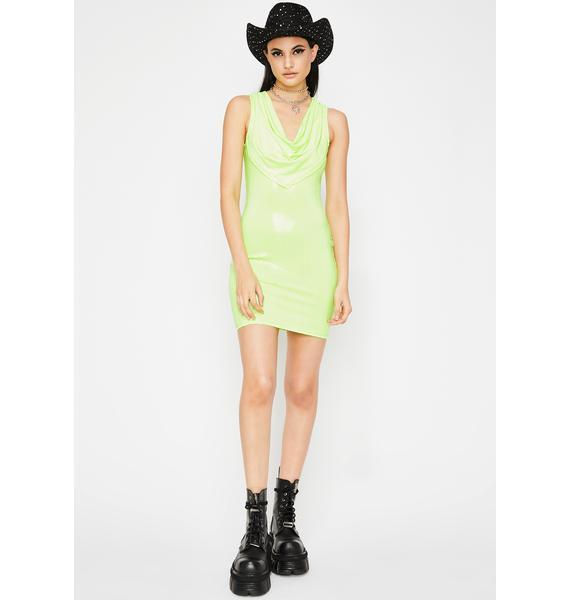 Minty Glam Galore Mini Dress