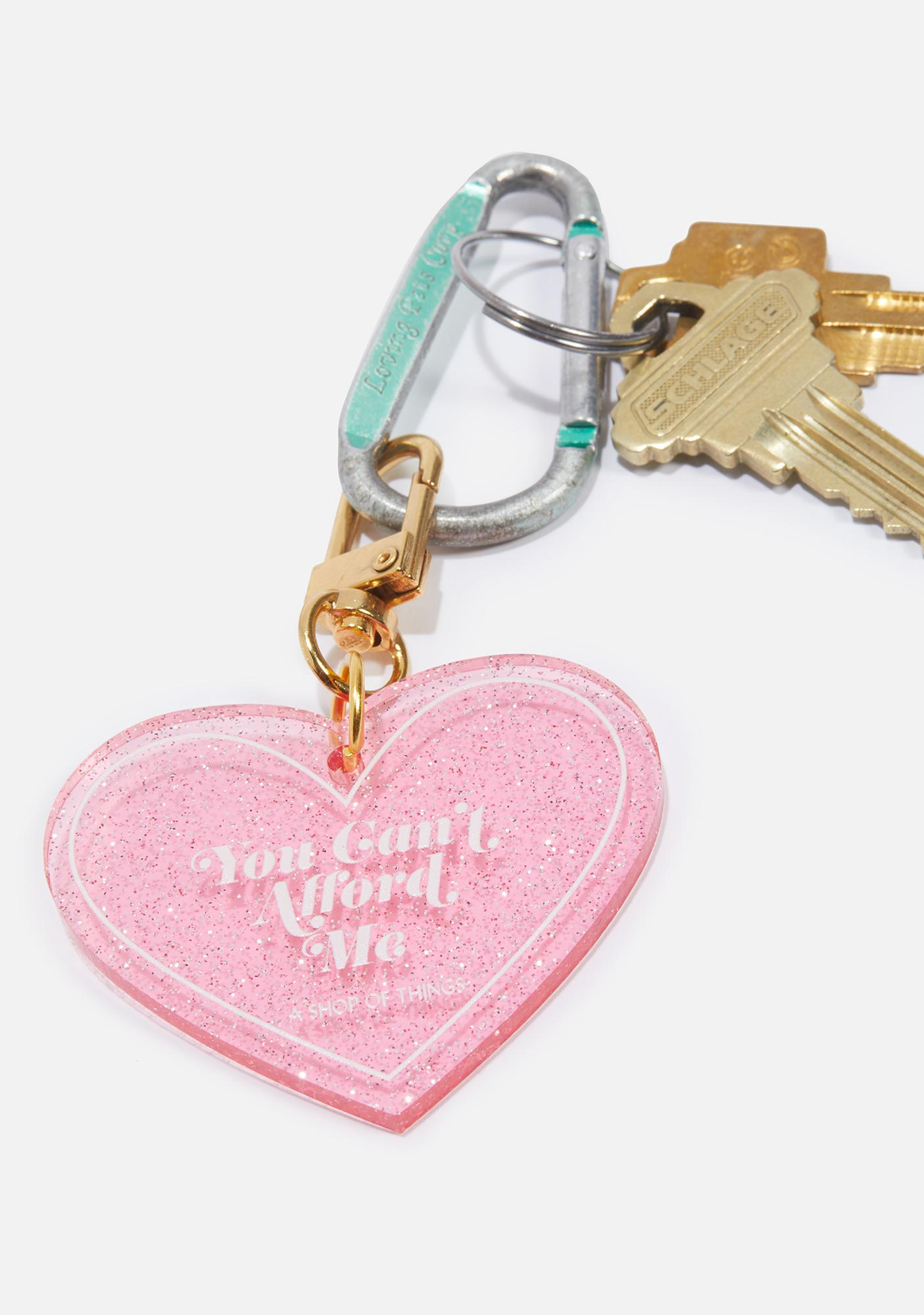 A Shop of Things You Can't Afford Me Heart Keychain