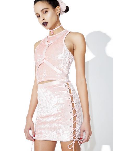 Princess Velvet Crushin' Lace-Up Skirt