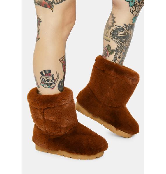 Copper Don't Bother Me Faux Fur Boots
