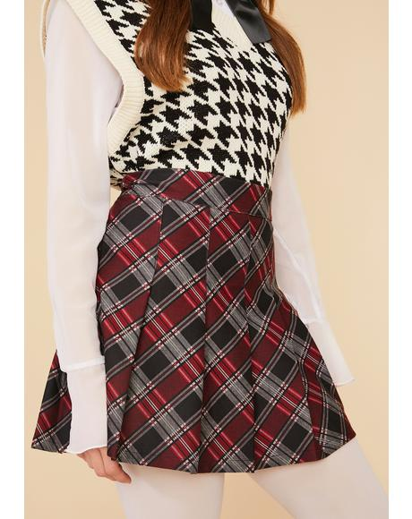 Mulberry Collegiate Cutie Plaid Mini Skirt