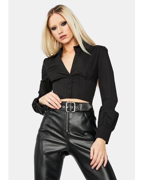 Starlet Sass Long Sleeve Corset Shirt