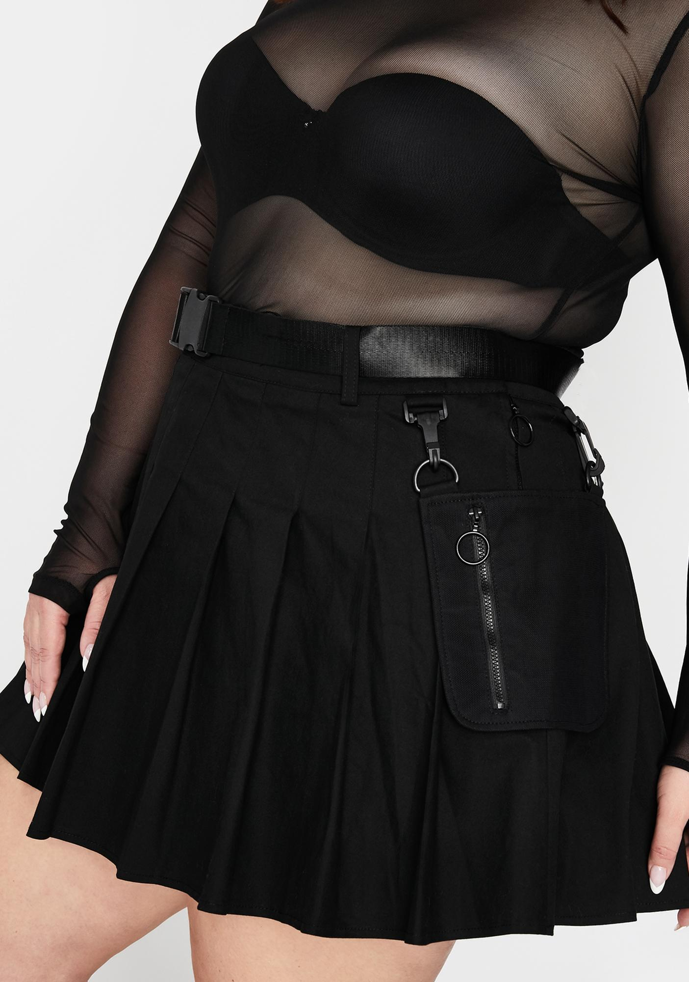 Current Mood Devious It's High Security Utility Skirt