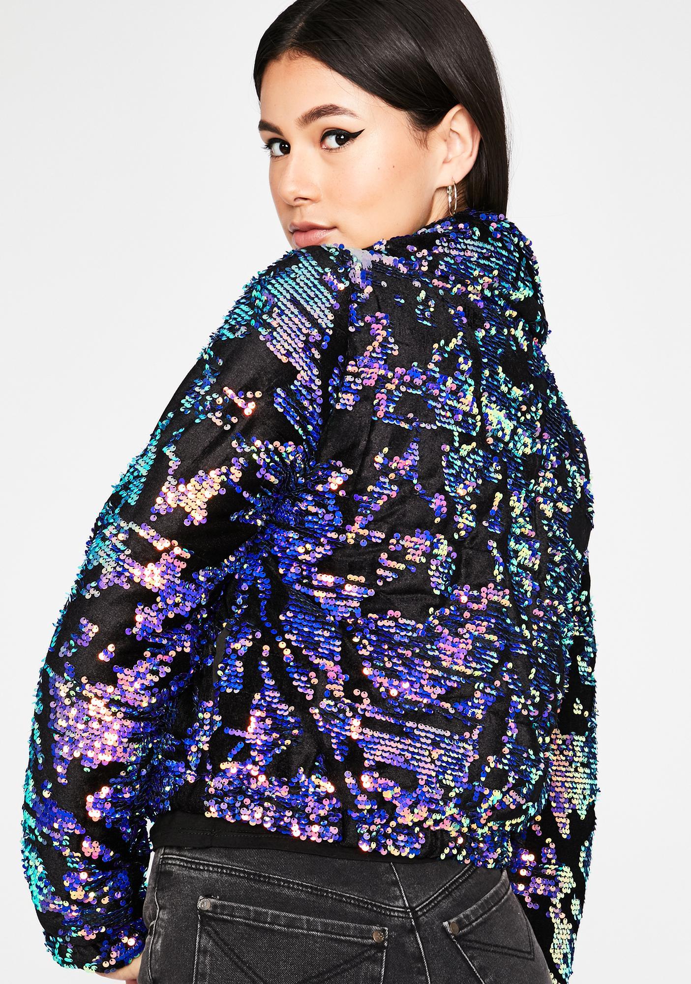 Urban Glam Sequin Puffer Jacket