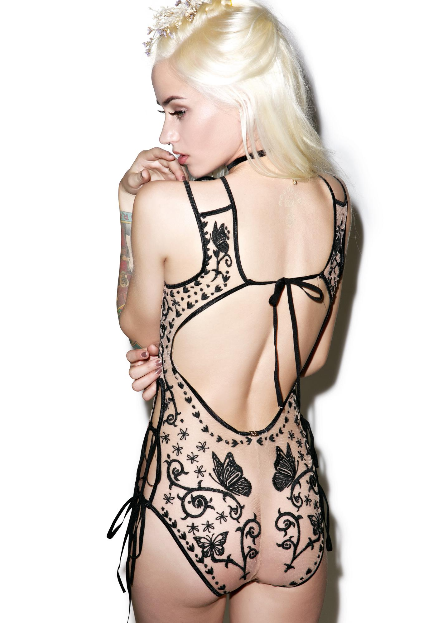 For Love & Lemons Karina Butterfly Bodysuit