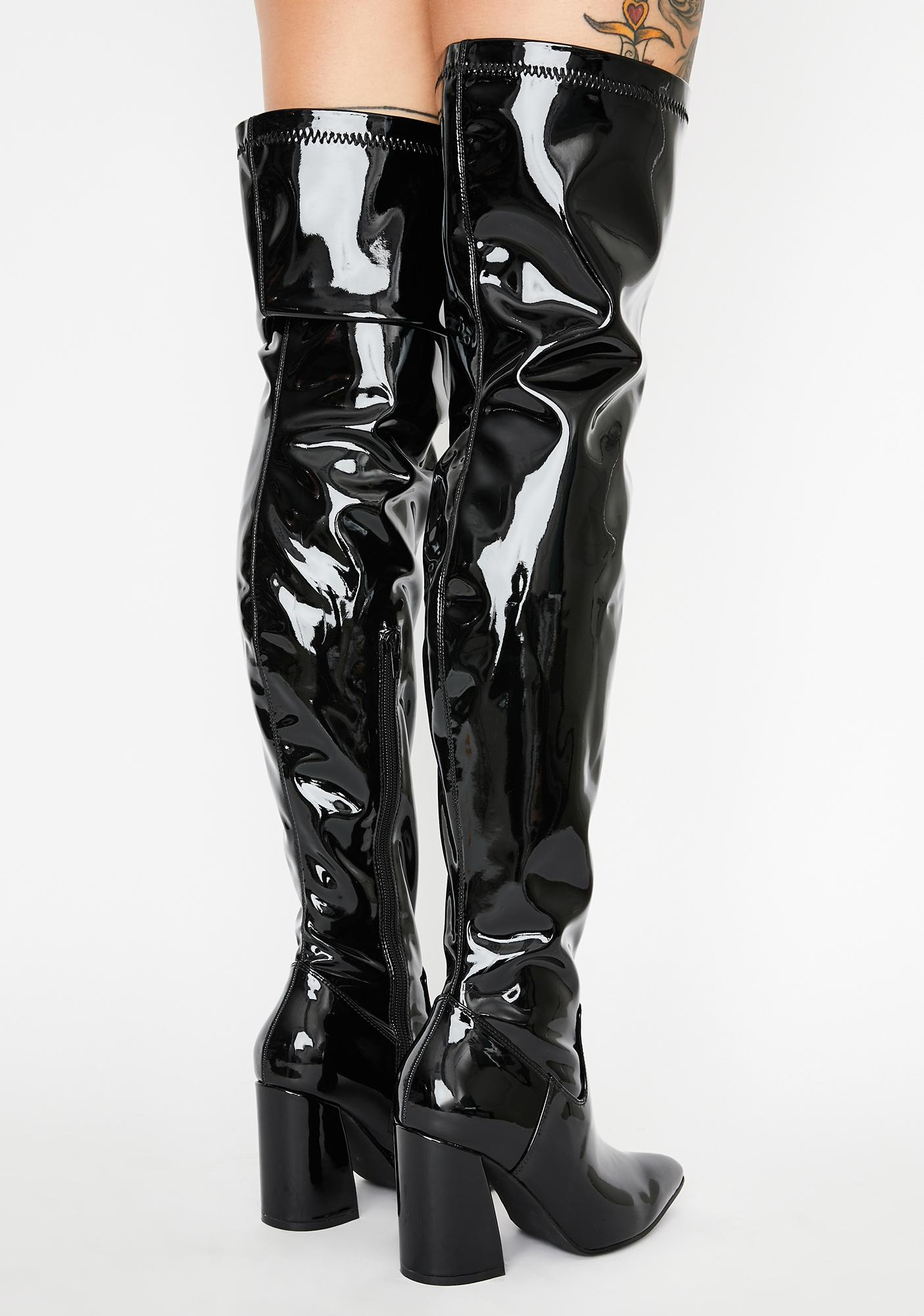 Current Mood Strange Secrets Patent Boots