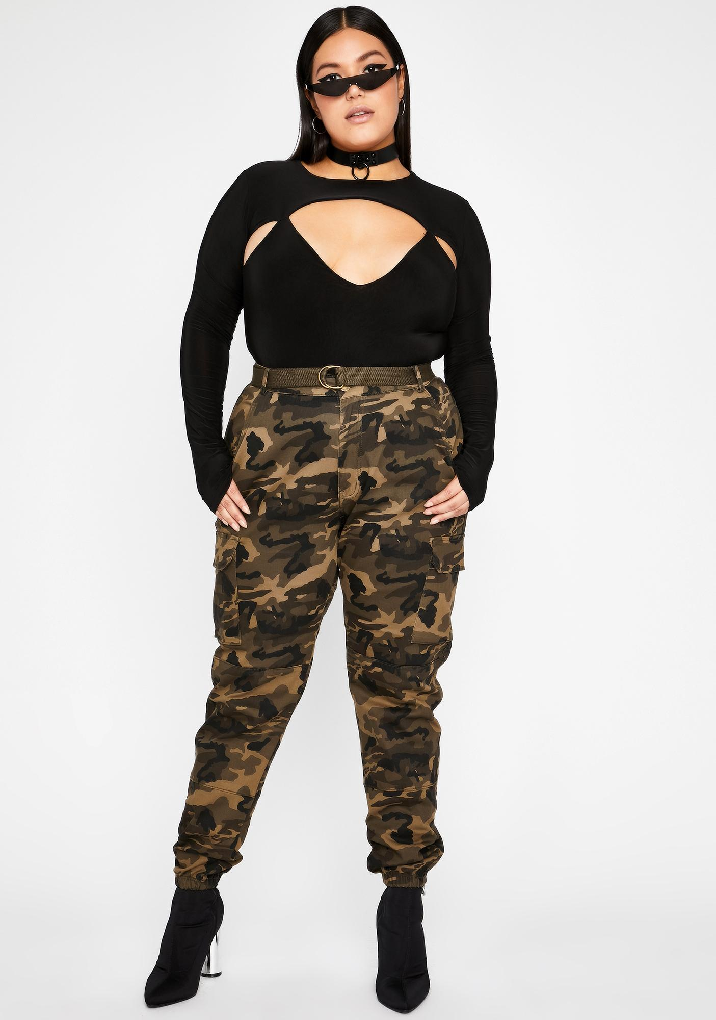 Gotta Real Bad Feeling Cutout Bodysuit