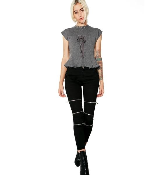 Storybook Lace-Up Top