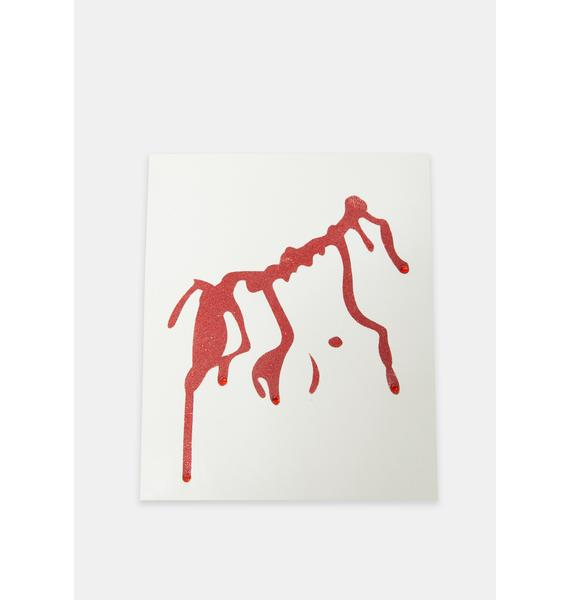 Glitter Blood Body Sticker