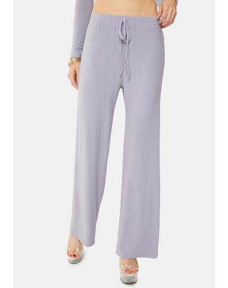 Dusty Lavender Wide Leg Lounge Pants