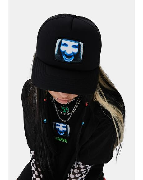 X Marilyn Manson TV Trucker Hat