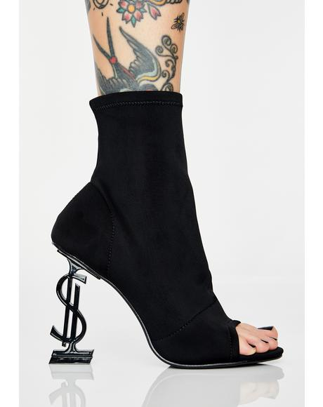 Money Shot Peep Toe Booties