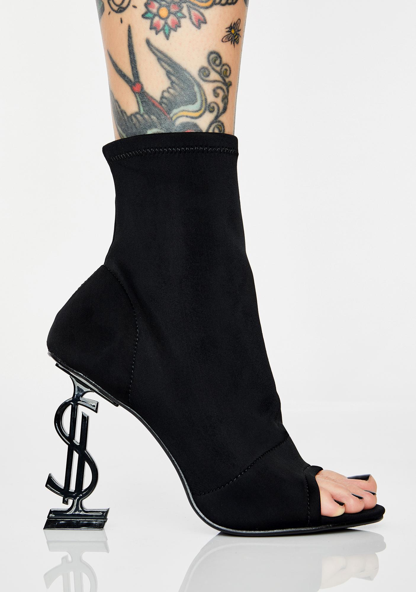 Money Shot Peep Toe Booties