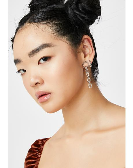 No Letting Go Chain Earrings