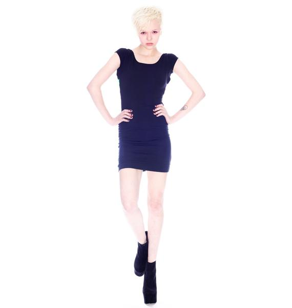 Quontum Neon Lattice Strap Back Dress