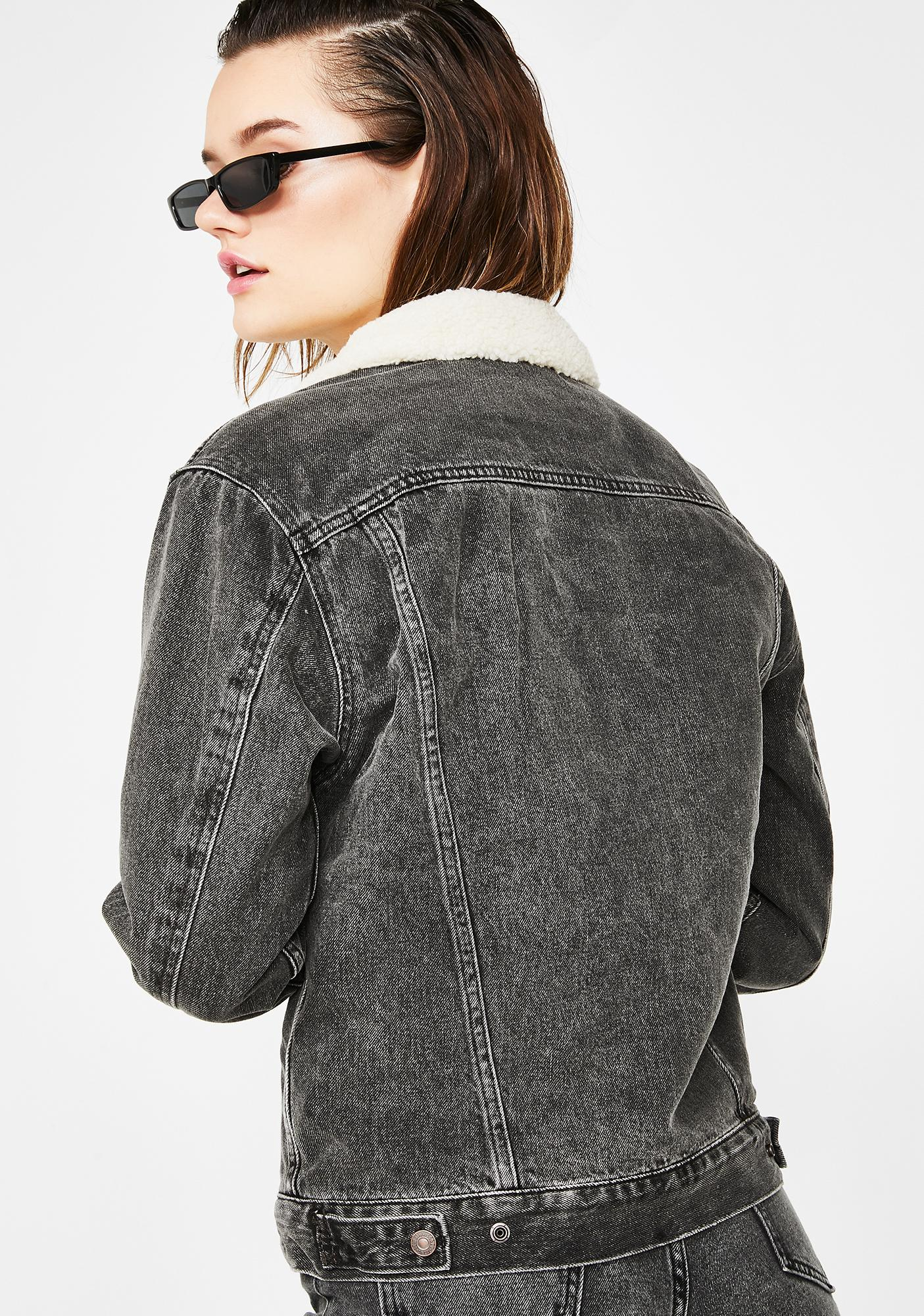 Levis Fade To Black Ex Boyfriend Sherpa Trucker Jacket