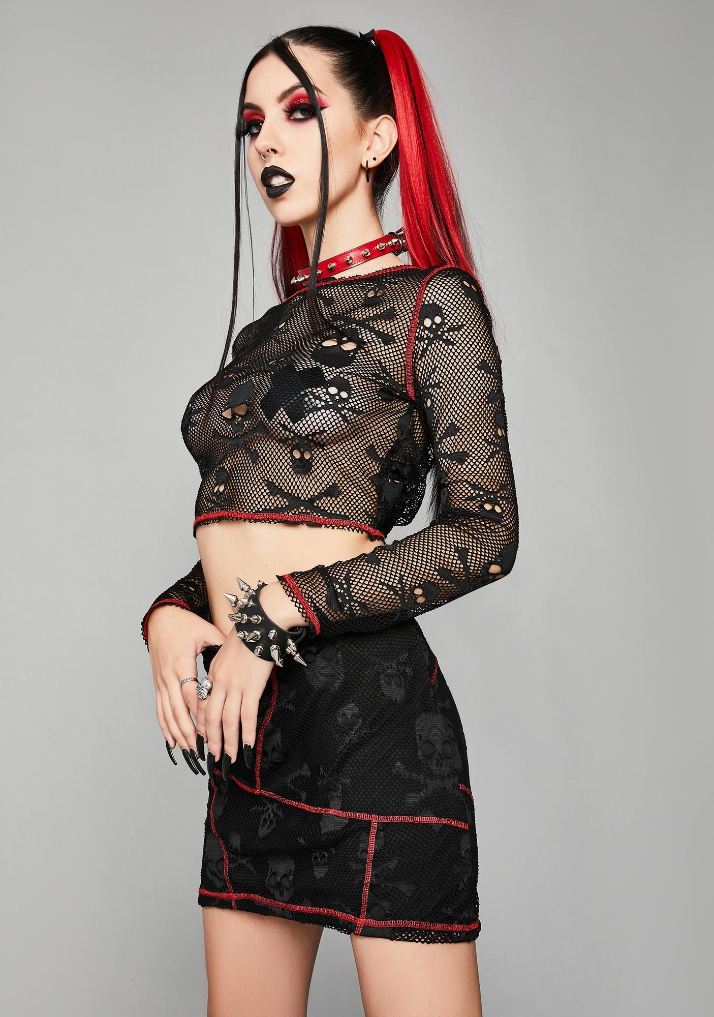 Widow Sweet Revenge Mini Skirt