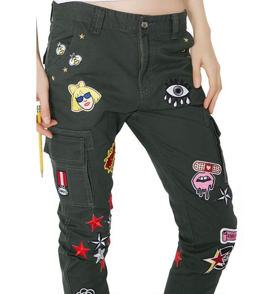 Eli'Noir Festival Cargo Pants