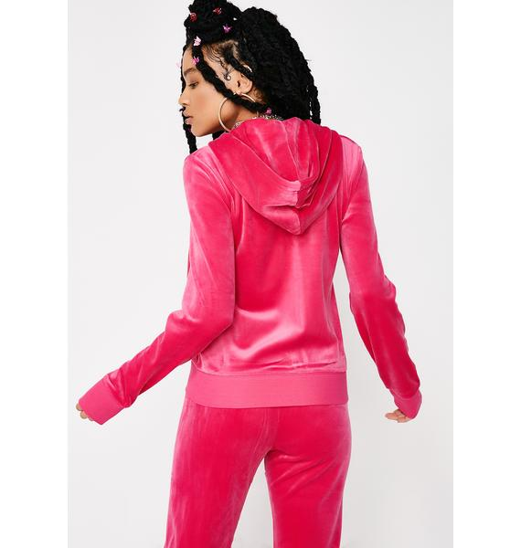JUICY COUTURE Sassy Ultra Luxe Velour Robertson Jacket