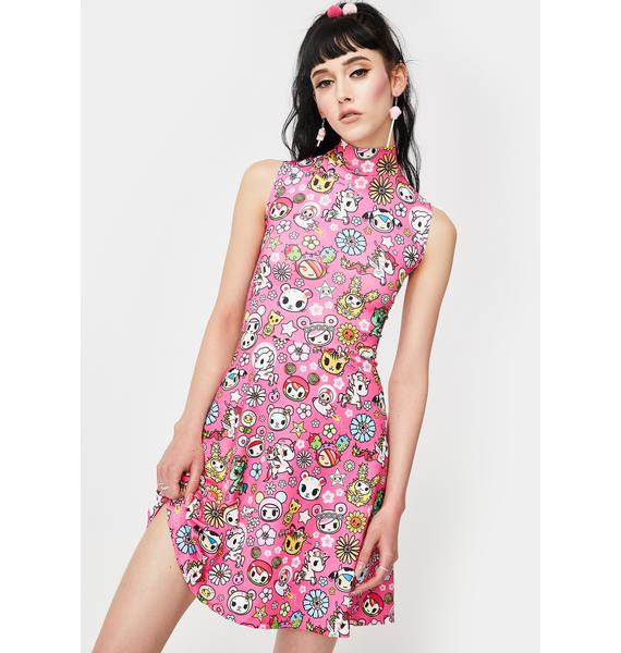 Tokidoki Super Bloom Mini Dress