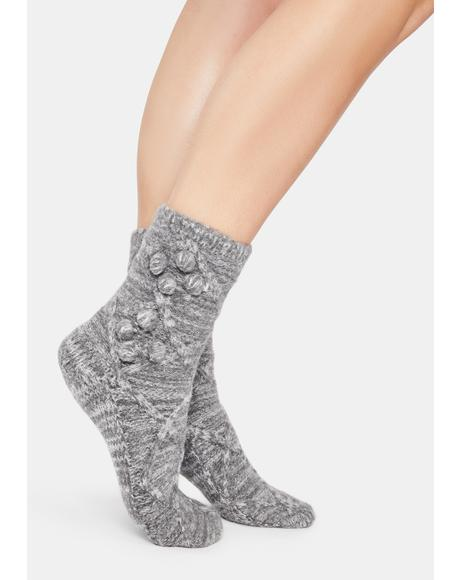 Blissful Bubble Warm Crew Socks
