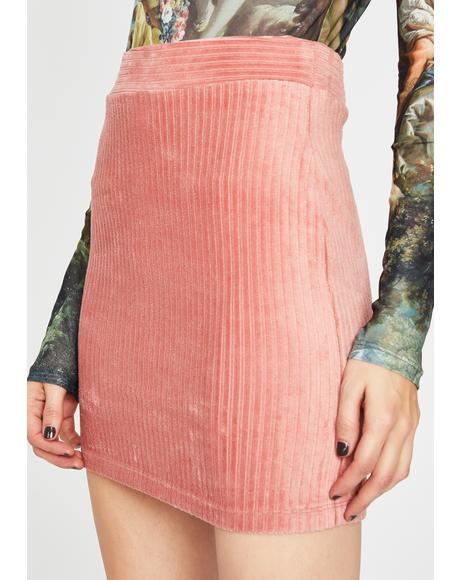Catch Feelings Corduroy Skirt