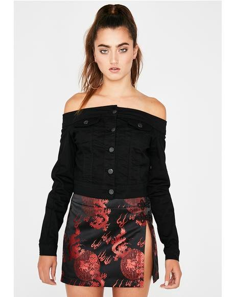 Bad Attitude Off Shoulder Jacket