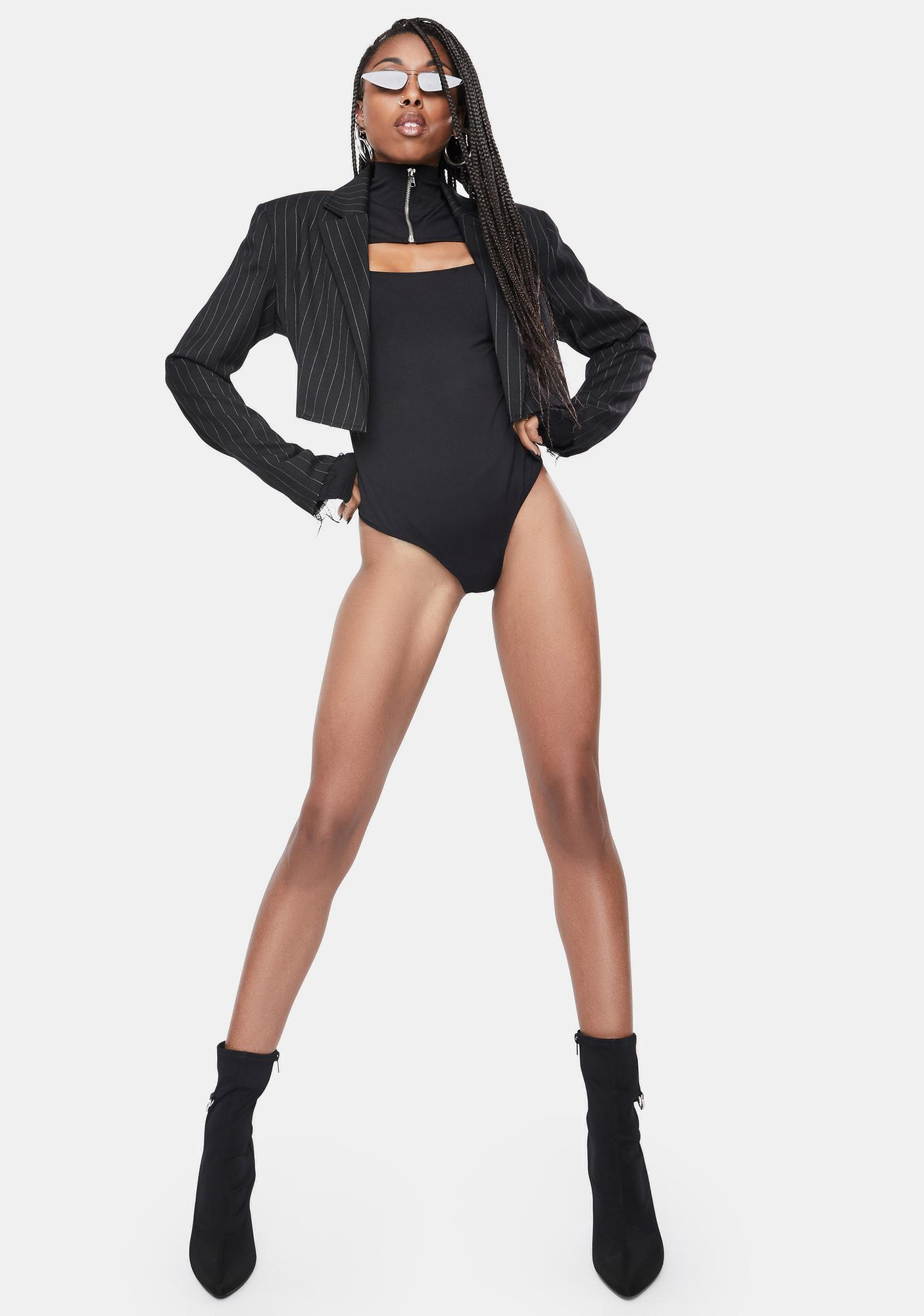 OW INTIMATES Black Erika Bodysuit