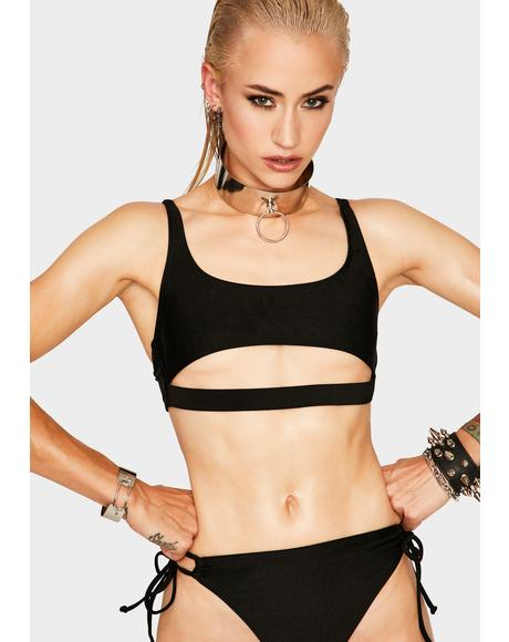 Black Discover Bikini Top
