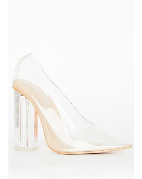 Alluring Clear Heels