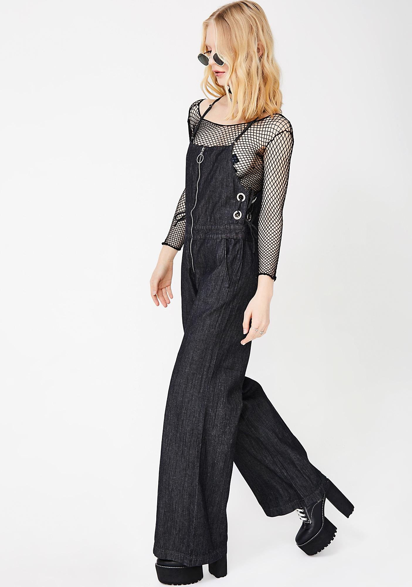 Can't Quit Denim Jumpsuit