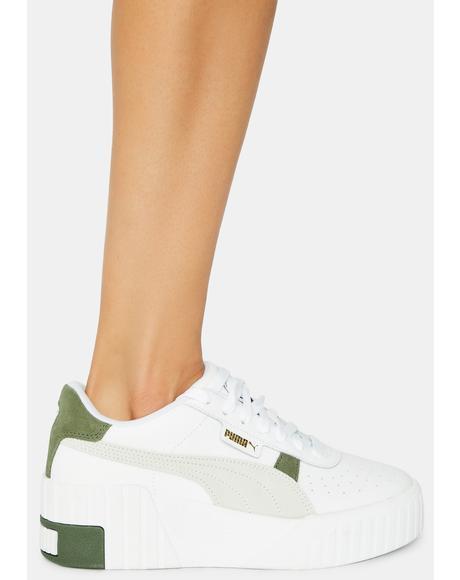 Cali Wedge Mix Sneakers