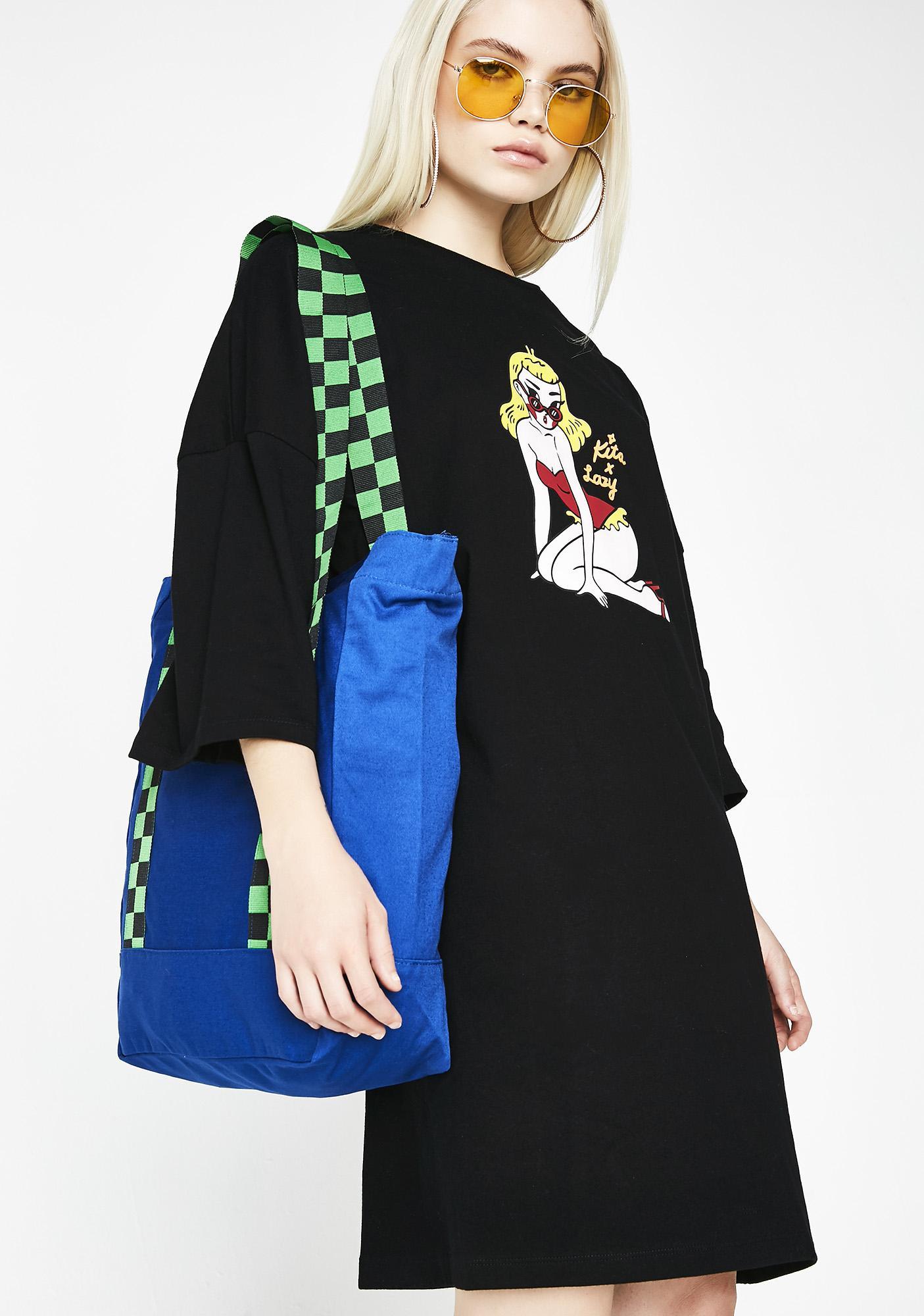 Lazy Oaf Kita T-Shirt Dress