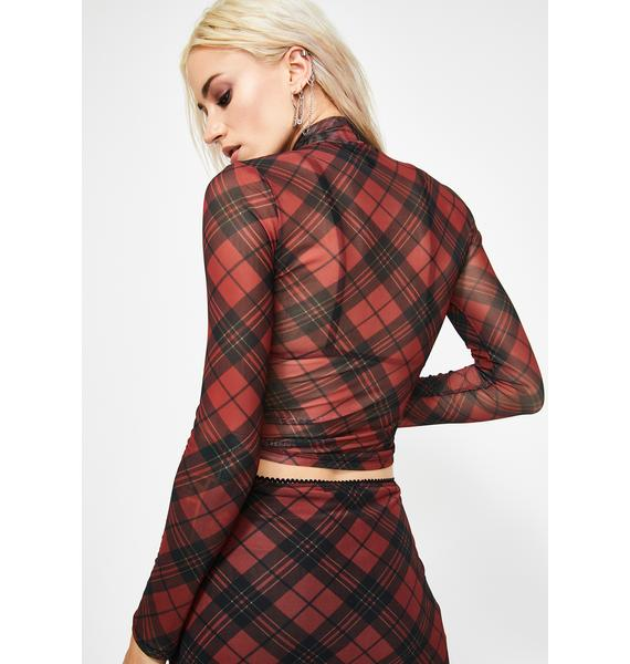 Current Mood Trouble Starter Mesh Top