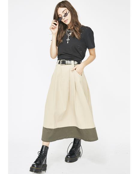 Anti-Conformist Midi Skirt