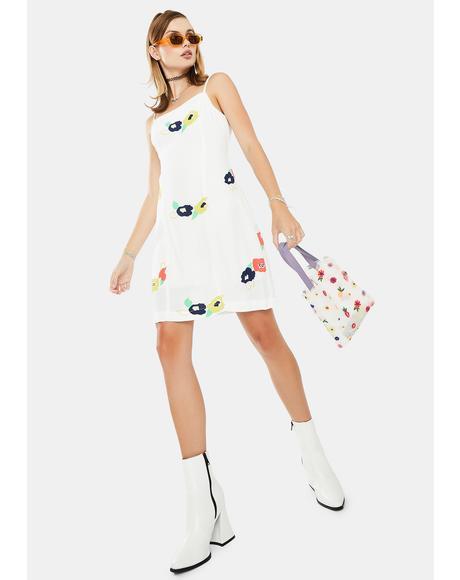 White April Rose Dress