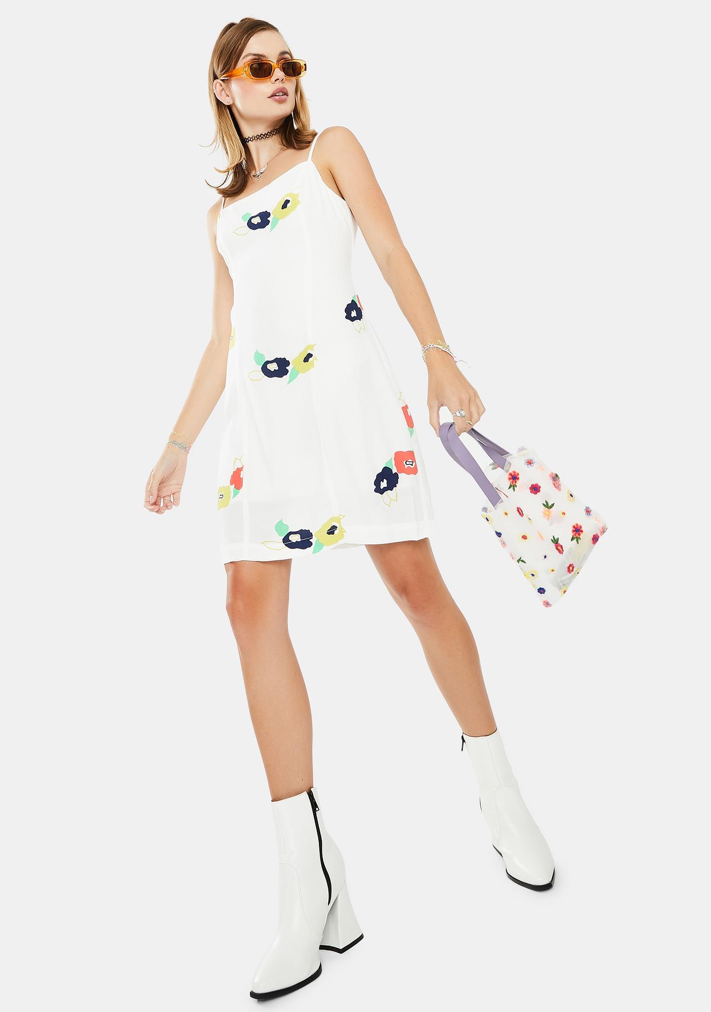 Rollas White April Rose Dress