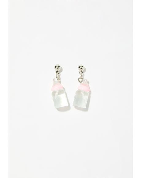 Rockabye Baby Bottle Earrings
