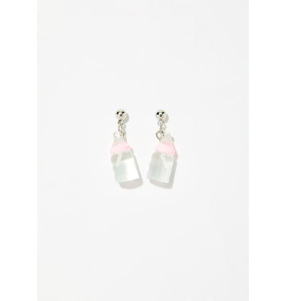 Rockabye Baby Bottle Earrings