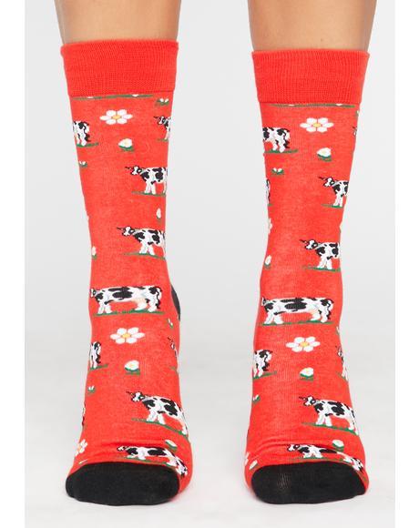 Hot Moo'dy Bish Crew Socks