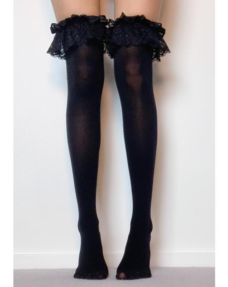 Sinful High Society Thigh High Socks