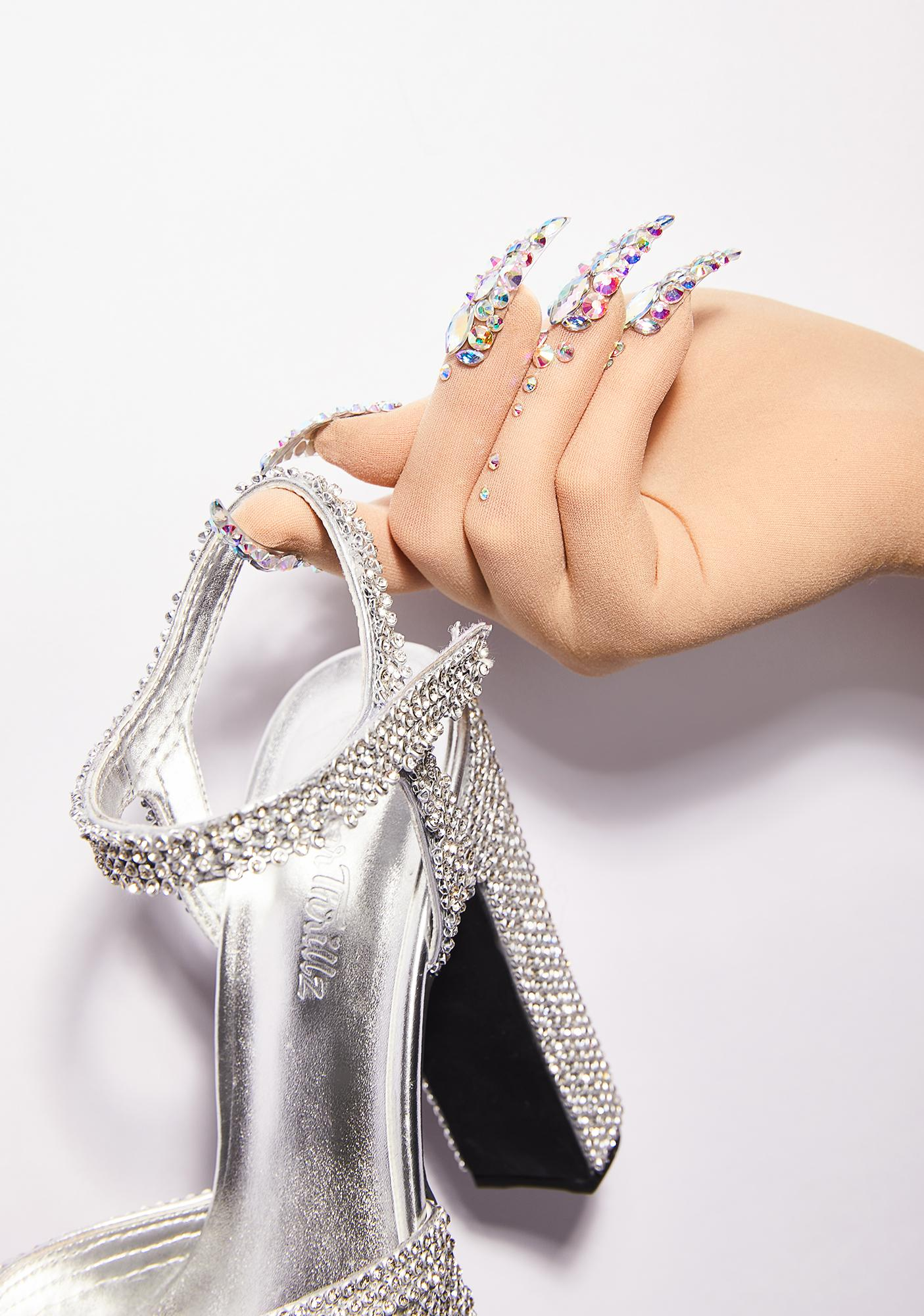 Unicorns Poop Glitter Diamante Nail Gloves