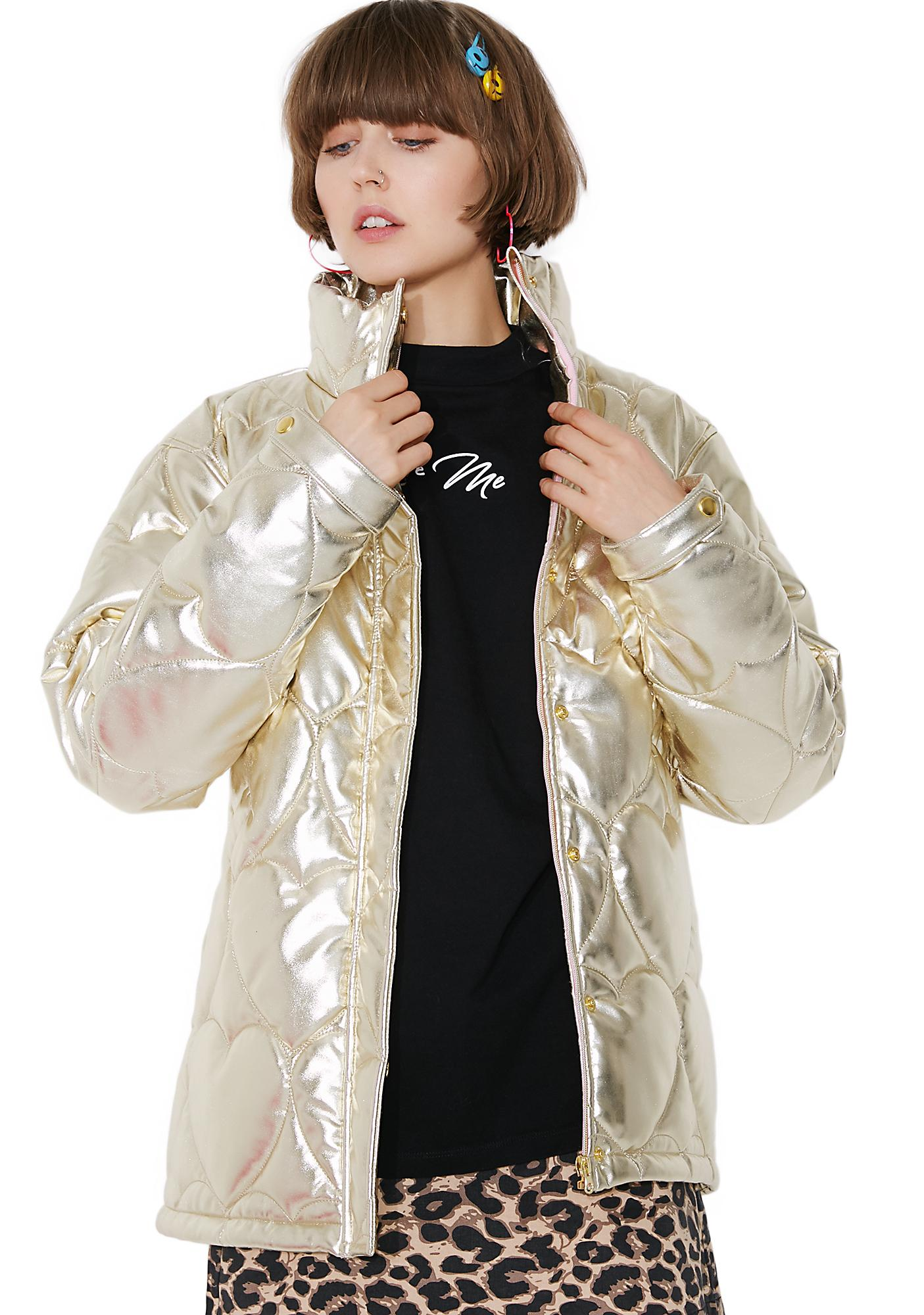Lazy Oaf Golden Child Puffer Jacket