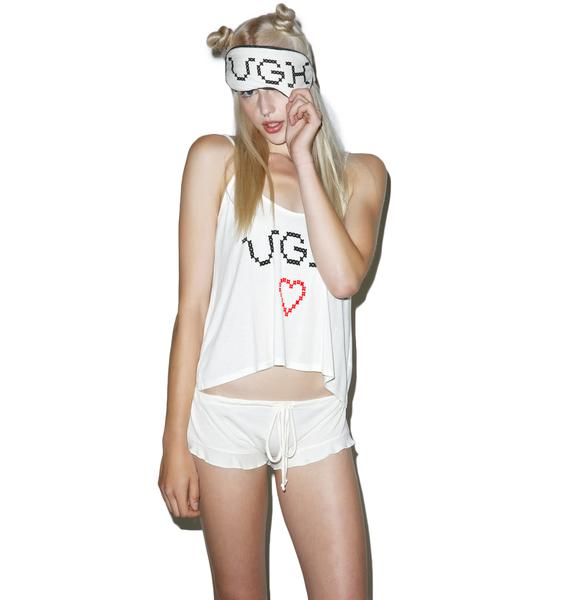 Wildfox Couture UGH Sleepover Cami Set