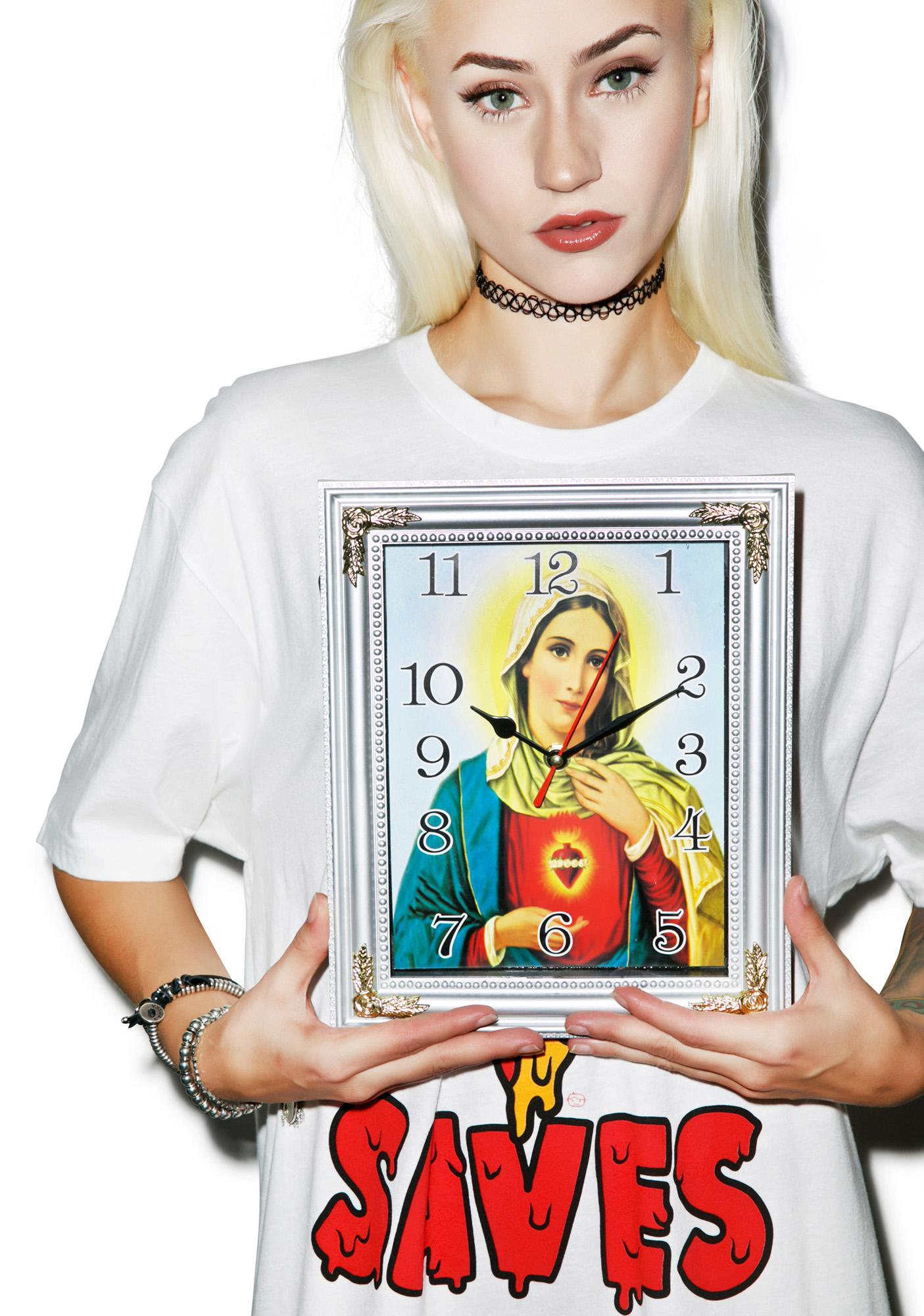 In A Virgin Mary Minute Clock