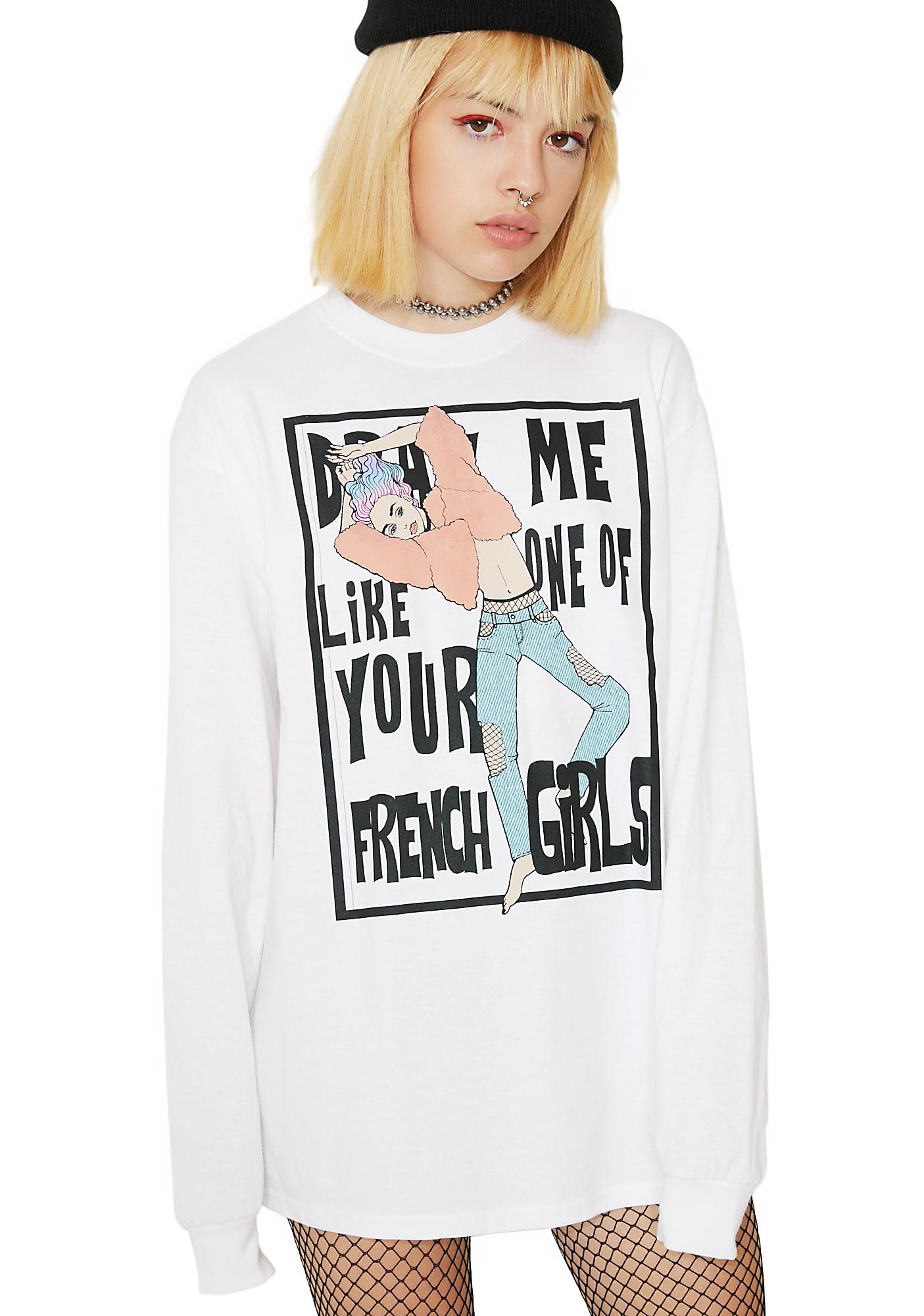 Peachbrain French Girls Long Sleeve Shirt